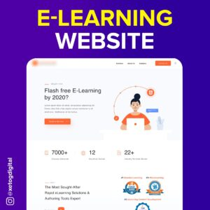 E learning Website Xetog Digitial